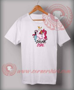 Unicorn Drunk Code Custom Design T shirts