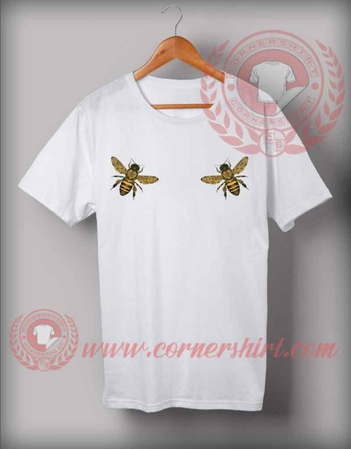 Bee Boobs Custom Design T shirts
