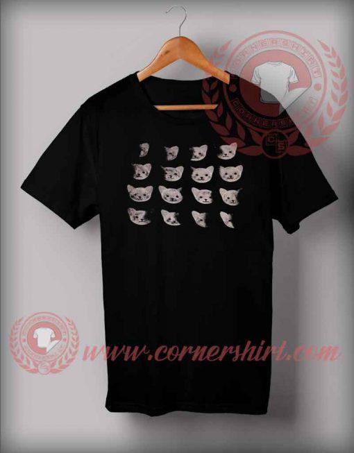 Cat Moon Phase Custom Design T shirts