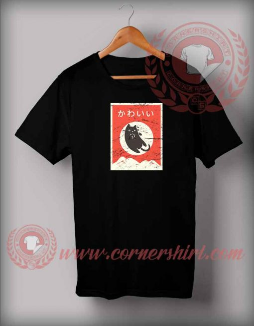 Japanese Cat Custom Design T shirts