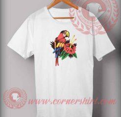 Parrot Flower T shirts