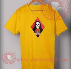 Skull Heart Skeleton Custom Design T shirts
