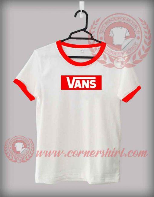Vans Logo Custom Design T shirts