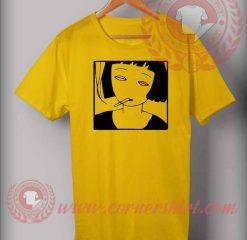 Girl Smoking Yellow T shirt