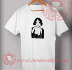Girl With Cat T shirt