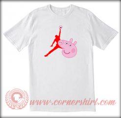 Air Jordan X Peppa Pig Custom T shirt