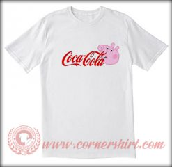 Coca Cola X Peppa Pig Custom T shirt