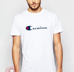Cocain Champion Collabs Custom T Shirt