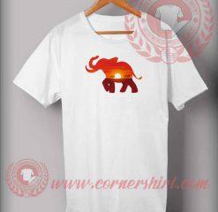 Elephant Sahara Sunset T shirt