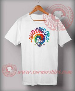 Good Vibes Only Bob Ross Colorful T shirt