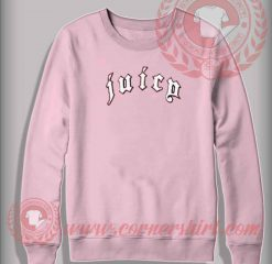 Juicy Printed Light Pink Sweatshirt