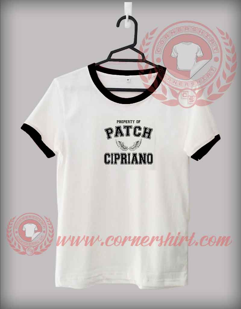 Property of patch cipriano custom design t shirts custom for Property of shirt designs