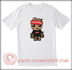 Supreme X Baby Groot LV Custom T shirt