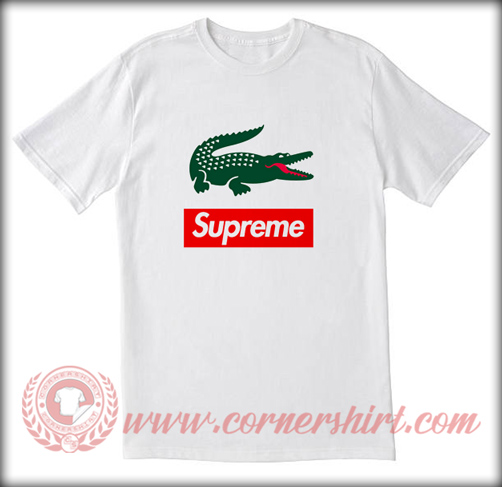 Supreme X Lacoste Custom T shirt