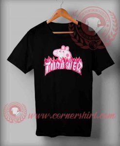 Thrasher Pegga Pig Parody T shirt