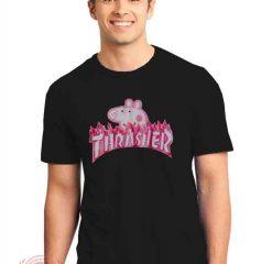 Thrasher Peppa Pig parody T shirt