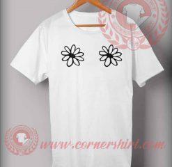 Twin Flower Boobs T shirt
