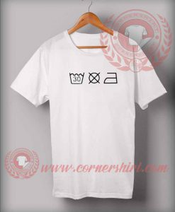 Washing Instructions T shirt