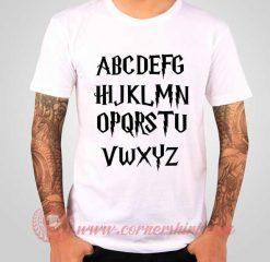 Alphabet Fonts Harry Potters T shirt