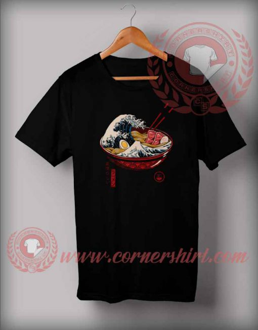 The Great Wave Ramen T shirt