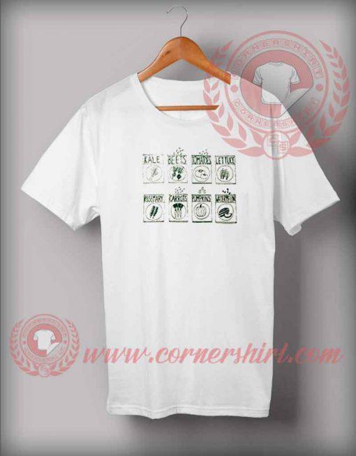 Various Green Vegetables T shirt