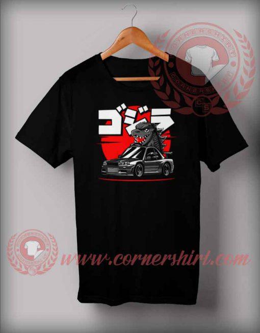 Baby Zilla Ride Car T shirt