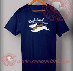 Dachsund Through The Snow T shirt