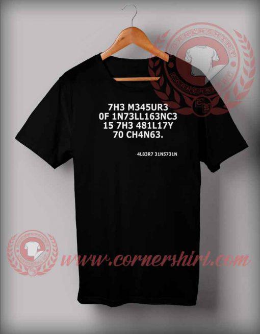 Einstein Intelligence T shirt
