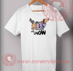 Dachsund Through The Snow T shirt
