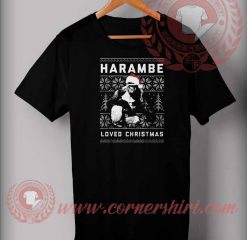 Harambe Love Christmas T shirt