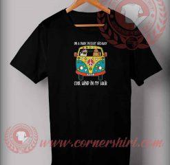 Pug On Dark Desert Highway T shirt