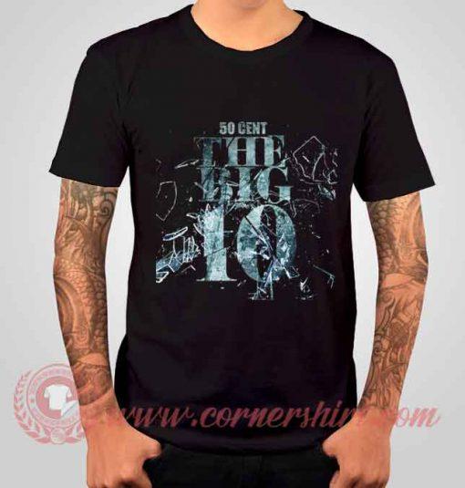 50 Cent The Big 10 Albums T shirt