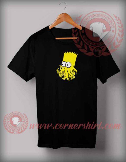 Bart Cthulhu Parody T shirt