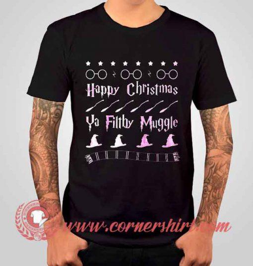 Happy Christmas Ya Filthy Muggle Harry Potters T shirt