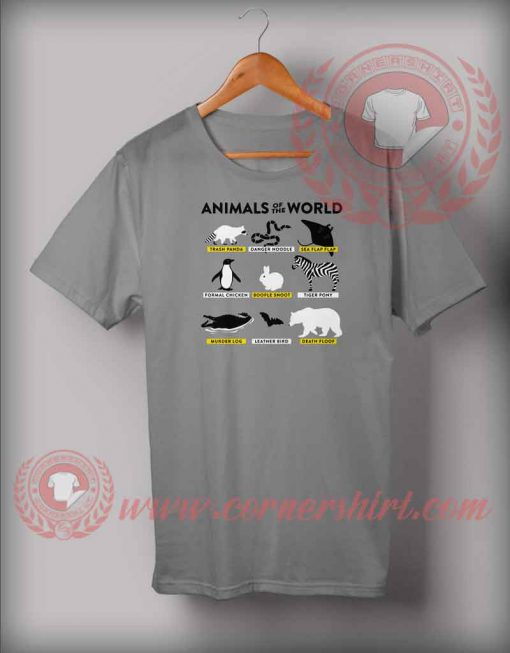 Animals Of The World T shirt