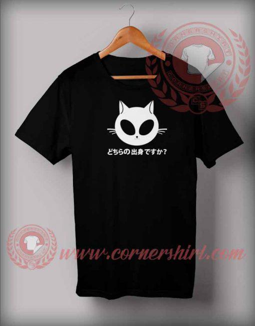 Kawaii Kitty Alien T shirt