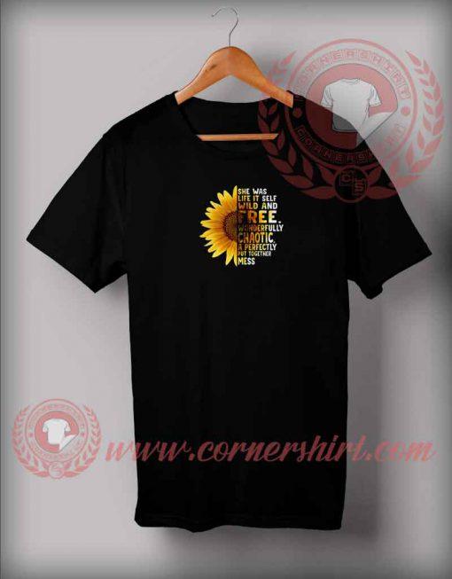 Sun Flower She's Free T shirt