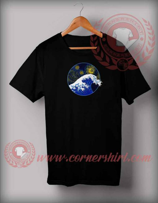 Starry Night Wave T shirt