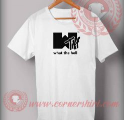 What The Hell Logo Parody T shirt