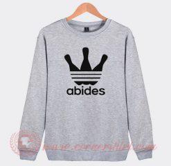 Abides Big Lebowski Adidas Parody Sweatshirt