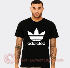 Addicted Adidas Parody T Shirt