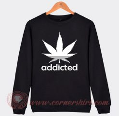 Addicted Cannabis Adidas Parody Sweatshirt