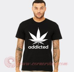 Addicted Cannabis Adidas Parody Hoodie