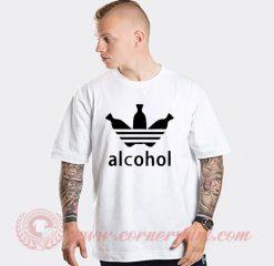 Alcohol Adidas Parody T Shirt