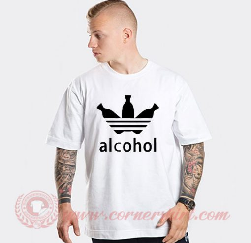 Alcohol Adidas Parody T Shirt