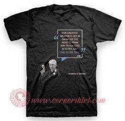 Word Wisdom Thomas Alfa Edison T Shirt
