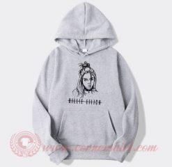 Billie Eilish Face Hoodie