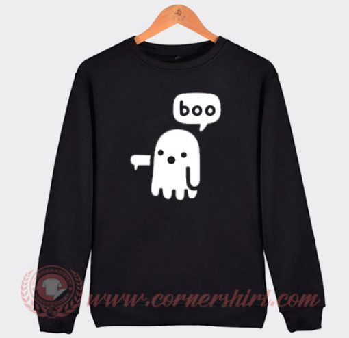 Boo Ghost Halloween Sweatshirt