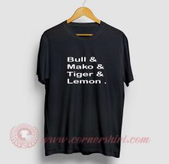Bull Mako Tiger Lemon T Shirt