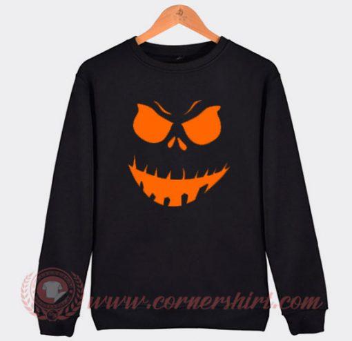 Scary Pumpkin Halloween Sweatshirt
